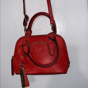 STEVE MADDEN RED ORANGE *MINI* PURSE